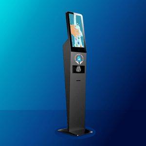 HAND SANITISER DISPENSER – Station with Touch Screen Kiosk
